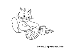 Dessin chat – Coloriage pâques à télécharger