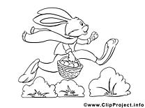 Dessin lapin – Coloriage pâques à télécharger