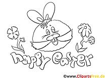 Dessins gratuits lapin – Pâques à colorier