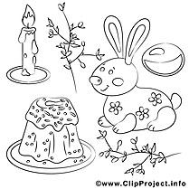 Fête clip arts – Pâques à imprimer