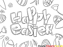 Fête dessin à télécharger – Pâques à colorier