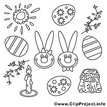 Fête images – Pâques gratuits à imprimer