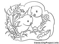 Herbe image à télécharger – Pâques à colorier
