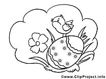 Herbe poussin clipart – Pâques dessins à colorier