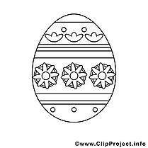 Illustration oeuf – Pâques à imprimer