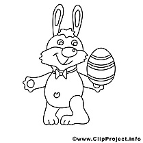 Image à télécharger lapin – Pâques à colorier