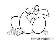 Image à télécharger oeufs – Pâques à colorier