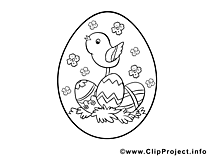 Image oeuf – Coloriage pâques illustration
