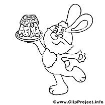 Images gratuites lapin – Pâques à colorier