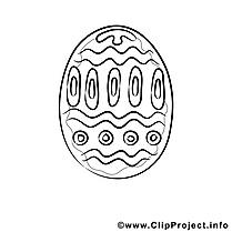 Images gratuites oeuf – Pâques à colorier