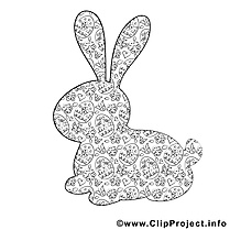 Images silhouette – Pâques gratuit à imprimer