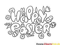 Joyeuse pâques images gratuites à colorier