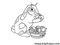 Lapin image gratuite à imprimer illustration