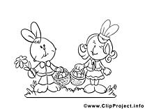 Lapins cliparts gratuis – Pâques à imprimer
