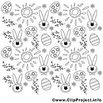 Lapins dessin – Pâques gratuits à imprimer