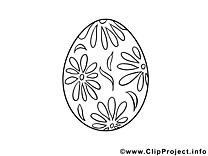 Oeuf illustration – Pâques à imprimer
