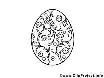 Oeuf image – Pâques images à colorier