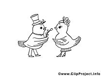 Oiseaux image à télécharger – Pâques à colorier
