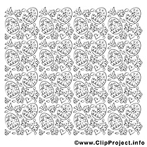 Ornement clip art – Pâques image à colorier