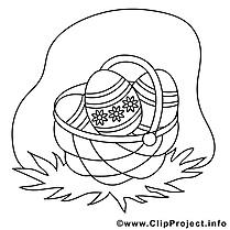 Panier cliparts gratuis – Pâques à imprimer