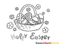 Panier illustration – Pâques à imprimer