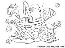Panier images – Pâques gratuit à imprimer