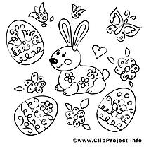 Papillons dessins gratuits – Pâques à colorier