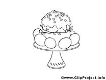 Petit gâteau dessin – Pâques gratuits à imprimer