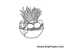 Pot dessin - Pâques cliparts à télécharger