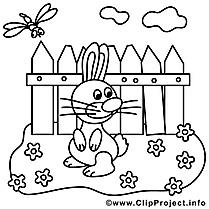 Potager image gratuite – Pâques à colorier