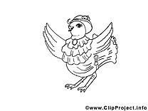 Poule clip arts – Pâques à imprimer