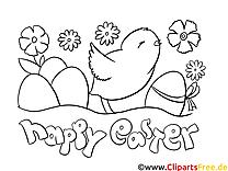 Poussin images – Pâques gratuit à imprimer