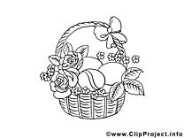 Roses illustration – Pâques à imprimer