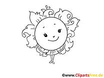 Soleil dessin – Pâques gratuits à imprimer