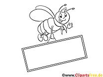 Abeille image – Cartoons images à colorier