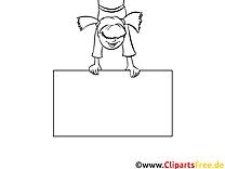 Affiche images gratuites – Cartoons à colorier