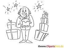 Anniversare illustration – Cartoons à colorier