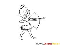 Archer illustration – Cartoons à colorier