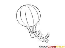 Ballon dessin – Coloriage cartoons à télécharger
