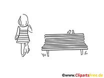 Banc illustration – Cartoons à imprimer