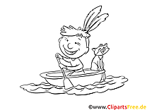 Bateau dessin – Coloriage cartoons à télécharger