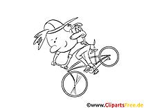 Bicyclette dessins gratuits – Cartoons à colorier