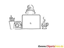 Bureau dessin – Cartoons gratuits à imprimer