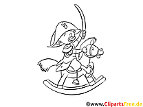 Chevalier dessin gratuit – Cartoons à colorier