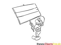 Coloriage homme cartoons image à télécharger