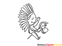 Coloriage indien cartoons image à télécharger