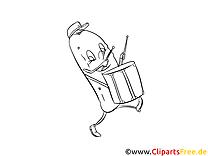 Concombre clipart – Cartoons dessins à colorier