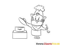 Cuisinier cliparts gratuis – Cartoons à imprimer