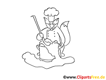 Cuisinier illustration – Cartoons à colorier