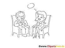 Entrevue image – Coloriage cartoons illustration